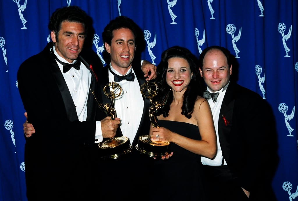 Michael Richards, Jerry Seinfeld, Julia Louis-Dreyfus, and Jason Alexander at the 1993 Emmy Awards