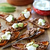 Taco Stuffed Sweet Potato Skins