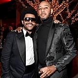 The Weeknd and Swizz Beatz at Diddy's 50th Birthday Party