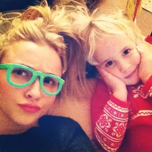 Hayden Panettiere played with her goddaughter on Christmas Day. Source: Twitter user haydenpanettier