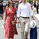 Pippa Middleton Red Ralph Lauren Dress