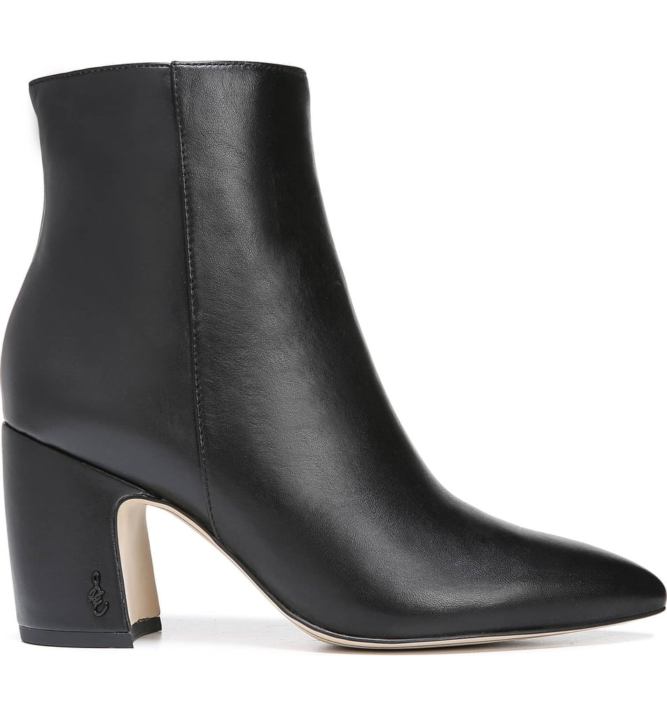 Sam Edelman Hilty Booties in Black Leather