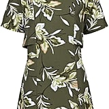 Topshop Leaf Print Overlay Dress ($105)