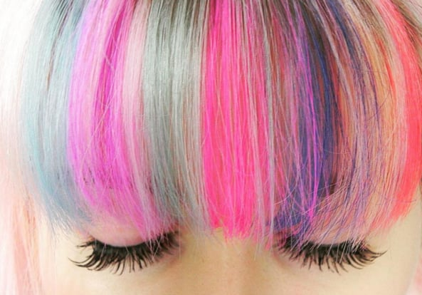 Image result for Rainbow Bangs hair