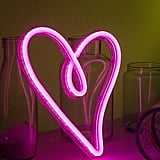 Heart-Shaped Neon Wedding Sign