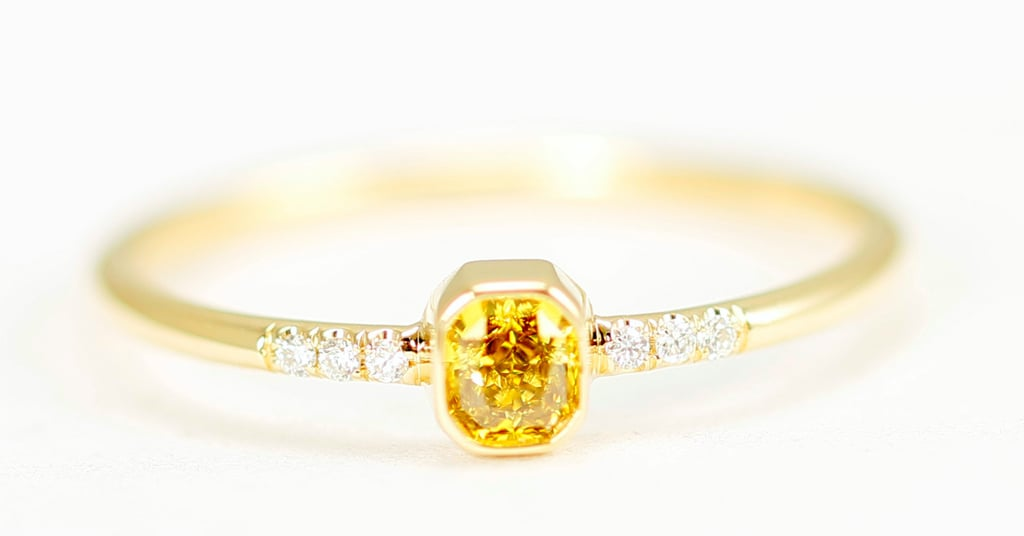 Yellow diamond and gold ring ($420)