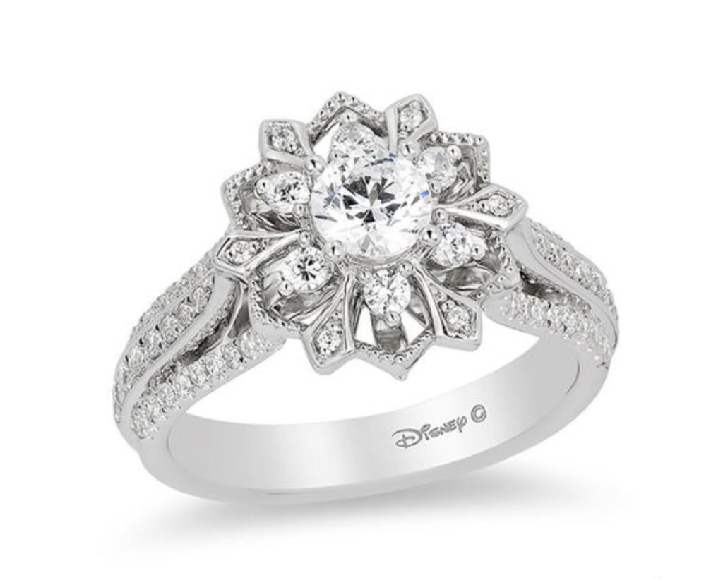 Enchanted Elsa Diamond Snowflake Frame Engagement Ring