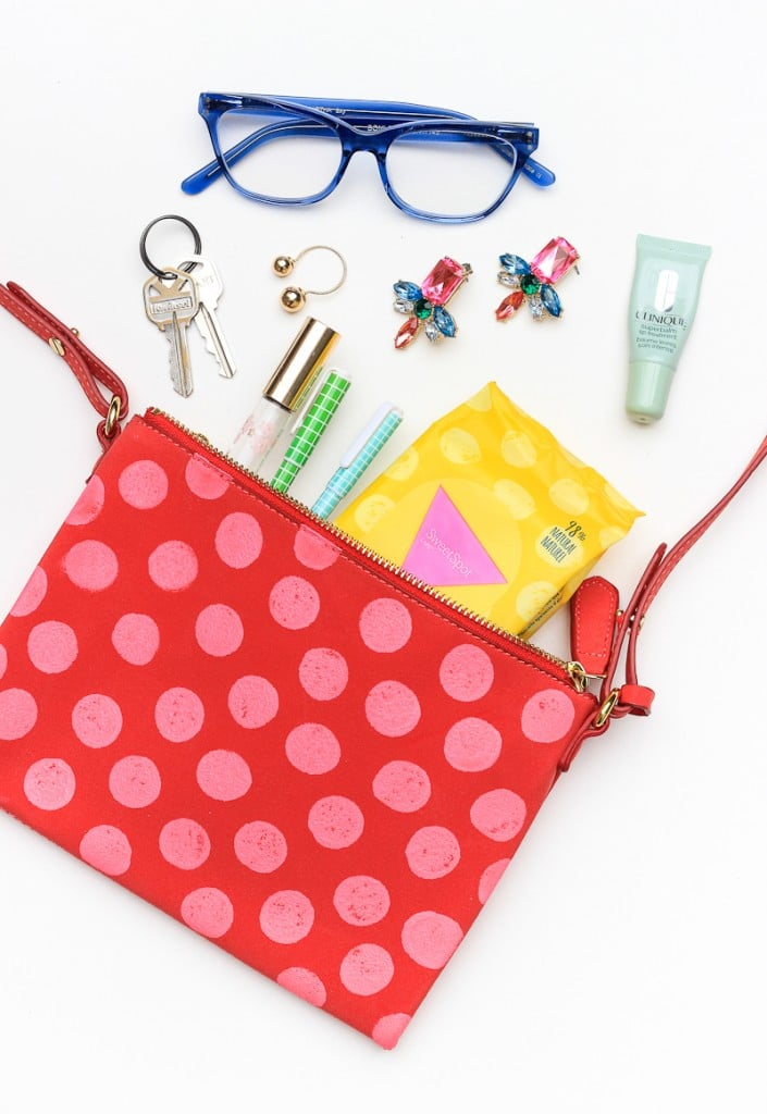 DIY Polka-Dot Purse