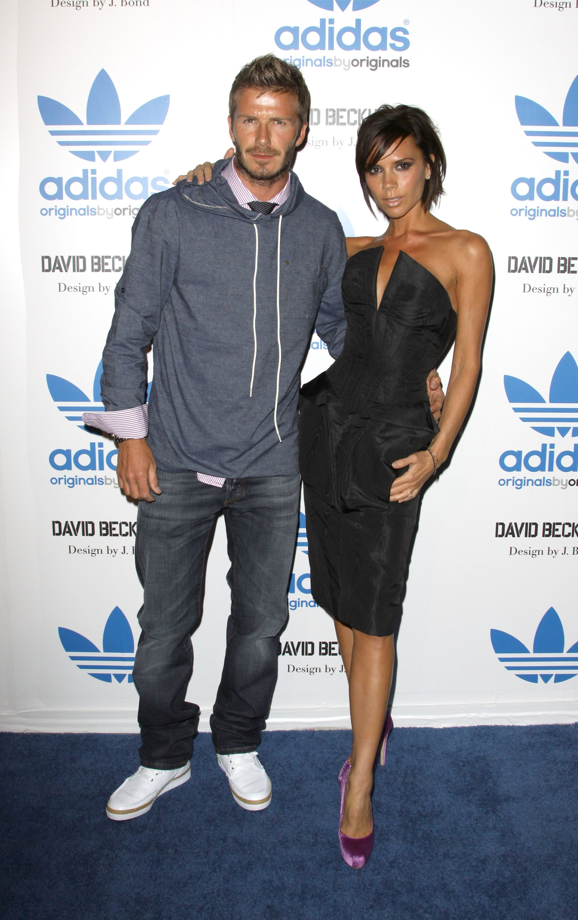 dosis Semejanza bruscamente  Photos of David Beckham and Victoria Beckham at Launch of Adidas Originals  as Reports Suggest They're Taking Elocution Lessons | POPSUGAR Celebrity UK