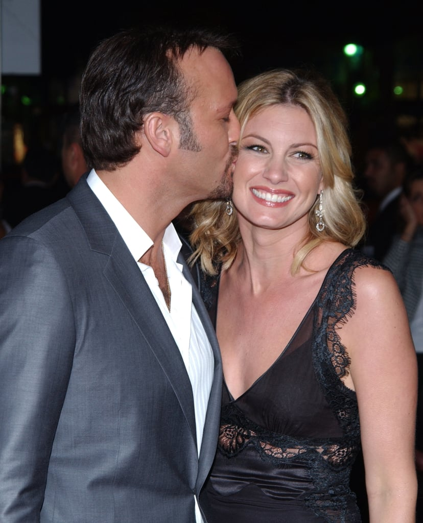"""Happy birthday, Faith Hill! The singer turned 51 on Friday, and to celebrate, her husband Tim McGraw shared a handful of personal photos on Instagram. While we can't get enough of the little glimpses of young Faith holding a guitar and playing sports, it's Tim's sweet message that really left us grinning from ear to ear. """"From the first time we met, I knew (she didn't!) that she was the love of my life forever . . ."""" he wrote. """"No matter the ups and downs, the happy and sad or the good and bad. She's so special and so loved by us. Happy birthday my love. When I wake up next to you in our 80's . . . I'll smile at the life we've built."""" Are you swooning yet?  Read on to see even more cute moments between the couple ahead."""