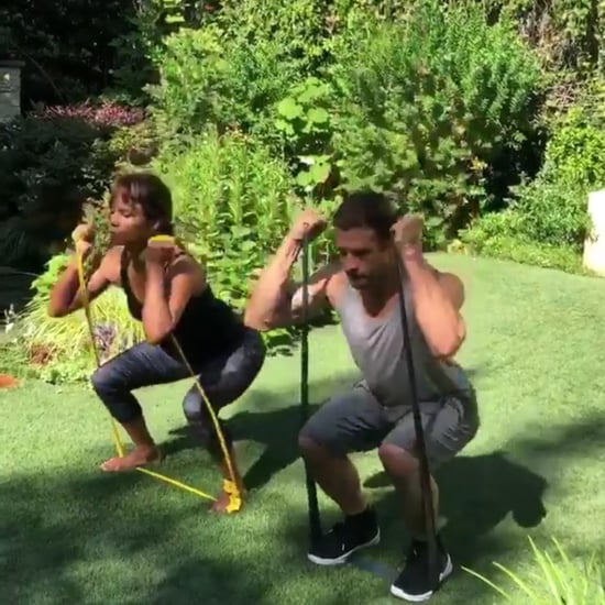 Halle Berry's Resistance Band Workout
