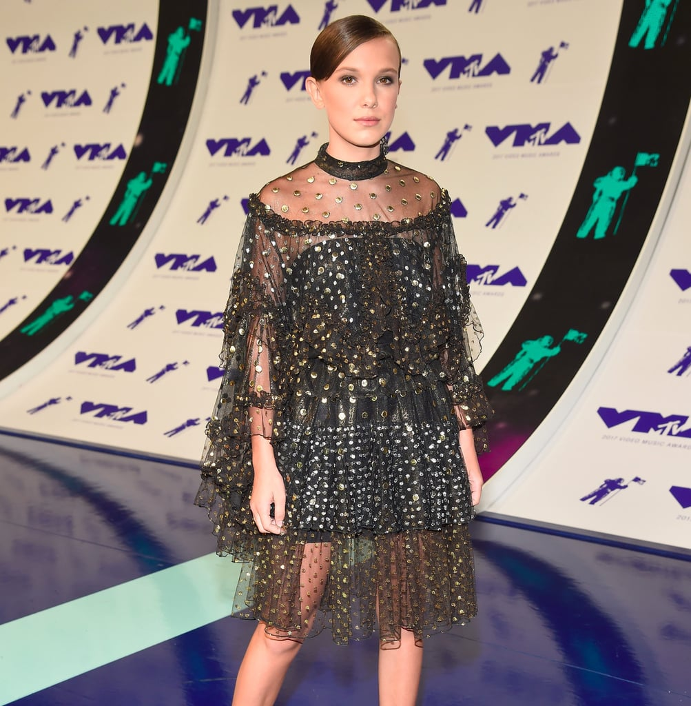 Millie Bobby Brown Paired Her VMAs Dress With Climbing Boots, But It Totally Works