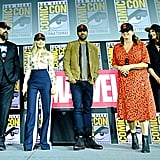 Pictured: David Harbour, Florence Pugh, O-T Fagbenle, Cate Shortland, and Rachel Weisz at San Diego Comic-Con.