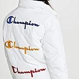 Champion Premium Reverse Weave Back Script Puff Jacket