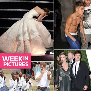 Miranda Kerr Photobomb, Justin Bieber Shirtless, Oscars Fall