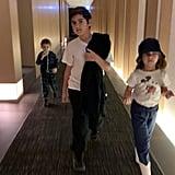 Kim and Kourtney Kardashian With Kids in Japan | Pictures