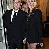 Jamie Hince and Kate Moss arrived hand-in-hand to the cocktail party on Tuesday night.