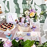 Yum! This dessert table had everyone hoping they'd get to dig in sooner, rather than later! The paper circle backdrop from KMHallberg Design was the perfect complement to the entire table and had everyone commenting about how perfect the entire event was styled!
