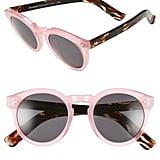 Illesteva Leonard II 50mm Round Mirrored Sunglasses ($290)