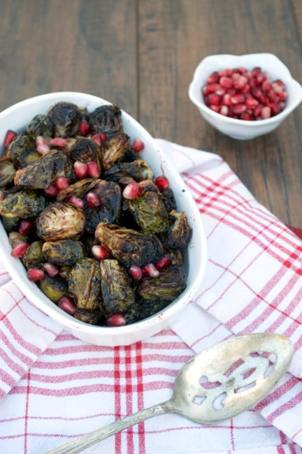 Pomegranate Balsamic Brussels Sprouts