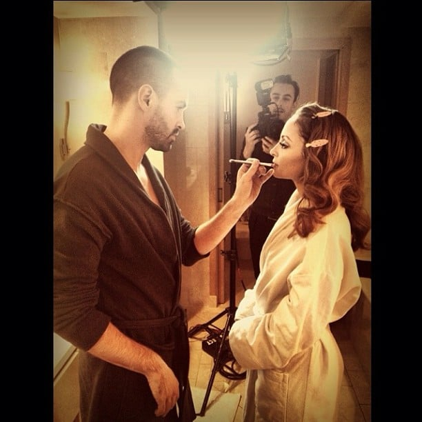 Nicole Richie got her makeup done for the Golden Globes. Source: Twitter user nicolerichie
