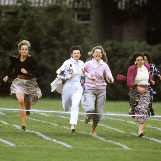 Princess Diana at School Mother's Day Race