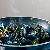 Beer Steamed Mussels With Herb Butter Baguettes