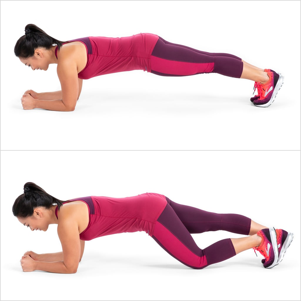 Elbow Plank With Alternating Knee Tap