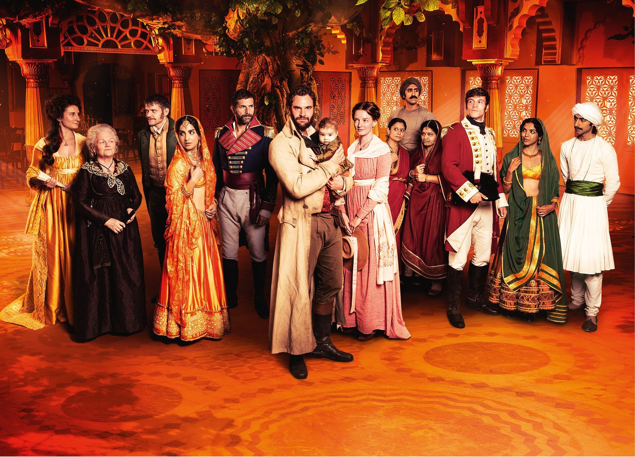 BEND IT TV FORITVBEECHAM HOUSEBEECHAM HOUSE FIRST LOOK PICTURESTom Bateman, Marc Warren, Lesley Nicol, Leo Suter, Dakota Blue Richards, Pallavi Sharda Bessie Carter and Viveik Kalra appear in epic and ambitious drama Beecham House airing on ITV this Spring. Produced by award winning production company Bend It TV, and directed and written by Gurinder Chadha OBE, the six part series is set in Delhi on the cusp of the 19th century. The drama depicts the fortunes of the residents of Beecham House, an imposing and beautiful mansion owned by enigmatic, soulful John Beecham, played by Tom Bateman, a former soldier determined to begin a new life with his family. However, John is haunted by his past and with dangerous enemies in high places, rival suitors competing for his heart and discord with family members, his plan for a new life does not run smoothly. The series also features Gregory Fitoussi, Adil Ray, Laura Dutta and Shriya Pilgaonkar.Beecham House is written by Gurinder Chadha, Paul Mayeda Berges (Viceroys House, The Mistress of Spices, Angus, Thongs and Perfect Snogging) Victor Levin (Destination Wedding, Mad Men, Mad About You) and Shahrukh Husain. Caroline Levy (Hooten & the Lady, Inspector George Gently, The Mill) is the Series Producer.  Acclaimed writer and international renowned expert on this period in India, William Dalrymple, and Shahrukh Husain are historical consultants for the series. FremantleMedia International will act as the global distributor for the series.Pictured L-R:BESSIE CARTER as Violet,LESLEY NICOL as Henrietta,MARC WARREN as Samuel, PALLAVI SHARDA as Chandrika,GREGORY FITOUSSI as General Castillon,TOM BATEMAN as John Beecham,DAKOTA BLUE RICHARDS as Margaret,GOLDY NOTAY as Bindu,AMER CHADHA-PATEL as Ram Lal,TRUPTI KHAMKAR as Maya,LEO SUTER as Daniel,SHRIYA PILGAONKAR as Chanchal and VIVEIK KALRA as Baadal.This photograph must not be syndicated to any other company, publication or website, or permanently archived, without the express written permission of ITV Picture Desk. Full Terms and conditions are available on  www.itv.com/presscentre/itvpictures/termsCopyright: ITV,FREMANTLEFor further information please contact:Patrick.smith@itv.com 0207 1573044