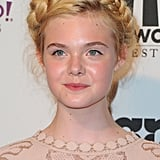 Elle Fanning looked fresh-faced for the Hollywood Film Awards gala.