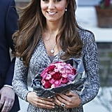 After a visit to Hope House in February, Kate's blow dry looked silky, healthy, and quite perfect.