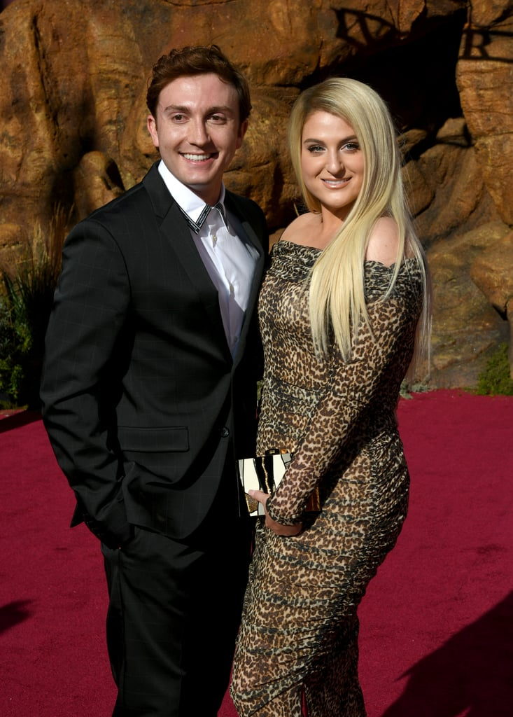 Pictured: Daryl Sabara and Meghan Trainor at The Lion King premiere in Hollywood.