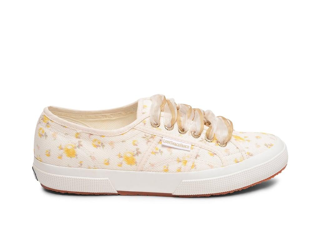 Superga x LoveShackFancy 2750 Fancotw Rose Golden Sneakers