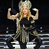 Madonna at the 2012 Super Bowl Halftime Show