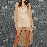 Alessandra Ambrosio showed some leg at Vogue and H&M's event.