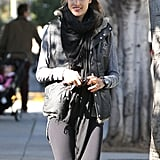 Alessandra Ambrosio picked up daughter Anja in LA.