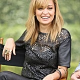 Nicole Richie was all smiles as she talked about Fashion Star at the NBC Universal press day in Pasadena.