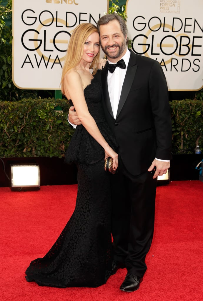 Leslie Mann and Judd Apatow linked up for the Golden Globe Awards red carpet.
