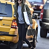 To Run Errands in a Favorite Furry Parka and Smart Satchel