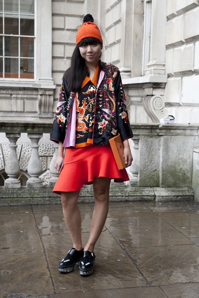 Susie Bubble styles a trumpet skirt with seriously quirky accessories. We love.