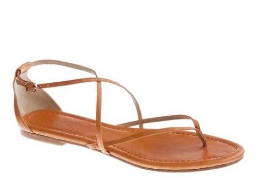 You can't go wrong with this simple, polished brown sandal. From boyfriend jeans to Summer sheaths, these sandals are a no-fail choice. J.Crew Audra Sandals ($98)