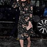 Kate Middleton Black Floral Dress