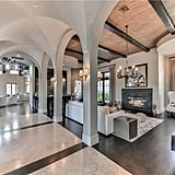The open floor plan makes this mansion look even more spacious.