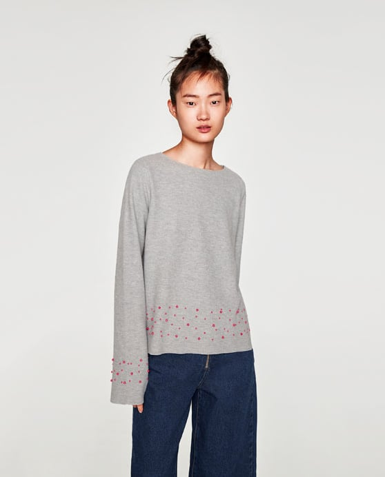 Zara Sweaters With Pearls