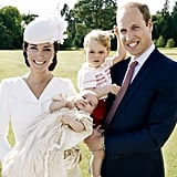 The family of four could not have been cuter on Princess Charlotte's christening day in July.