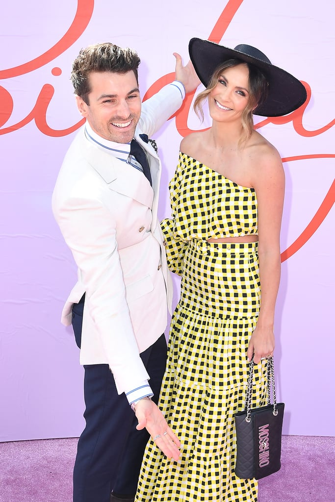 Matty J and Laura Byrne at Melbourne Cup 2019