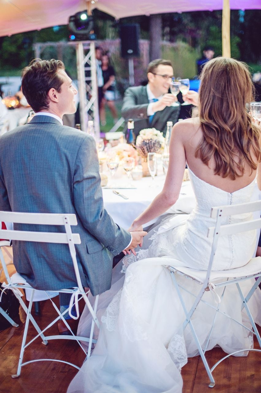 A Sweet Reception Moment