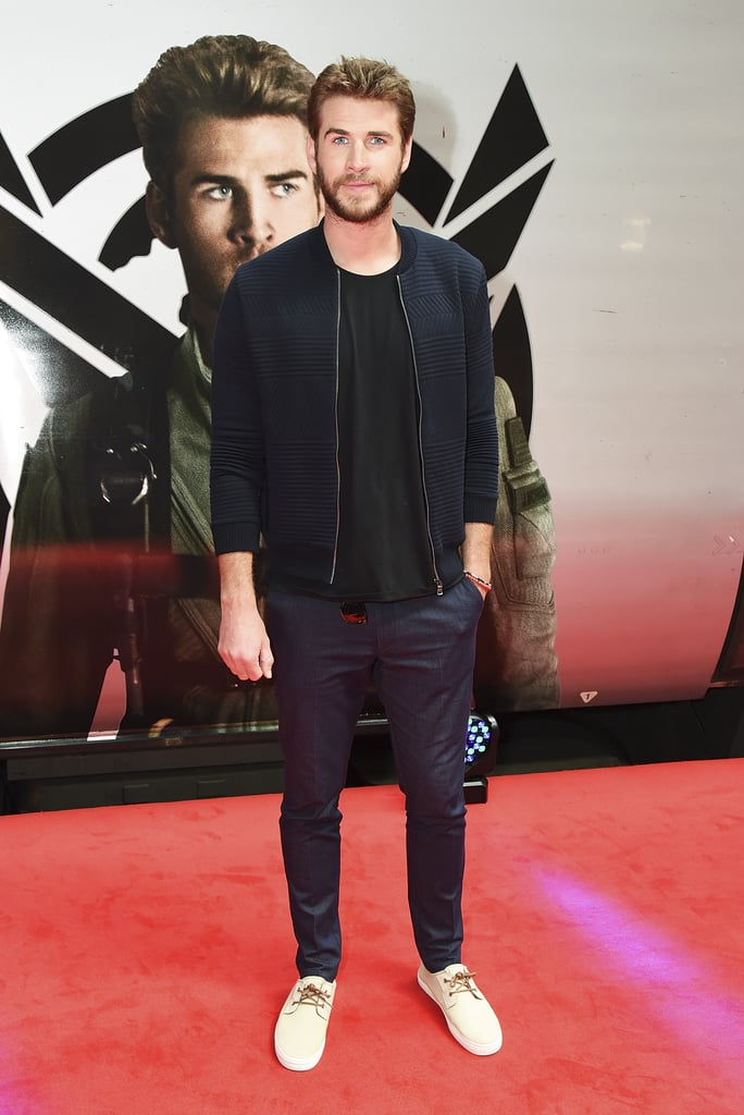 It's been far too long since Liam Hemsworth hit the red carpet to promote a film, and we were starting to go through withdrawals. The last press tour he did was for The Hunger Games: Mockingjay — Part 2/a> last year, and after some rest and relaxation — including rekindling his romance with Miley Cyrus and lots of surf sessions with his brothers Down Under — the 26-year-old Aussie actor is back and looking better than ever.  Liam kicked off his promo tour of Independence Day: Resurgence with a photo-call in his native Australia last week and looked just as stunning as the Sydney Opera House backdrop. On Monday, he linked up with co-star Jeff Goldblum in London to debut Virgin Trains' new Beam service and posed in front of a car that was wrapped with his own gorgeous face. The big question is: will Miley join her fiancé on the red carpet for any upcoming premieres?