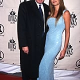 Melania wore this glittery blue dress for a red carpet event in 1999.