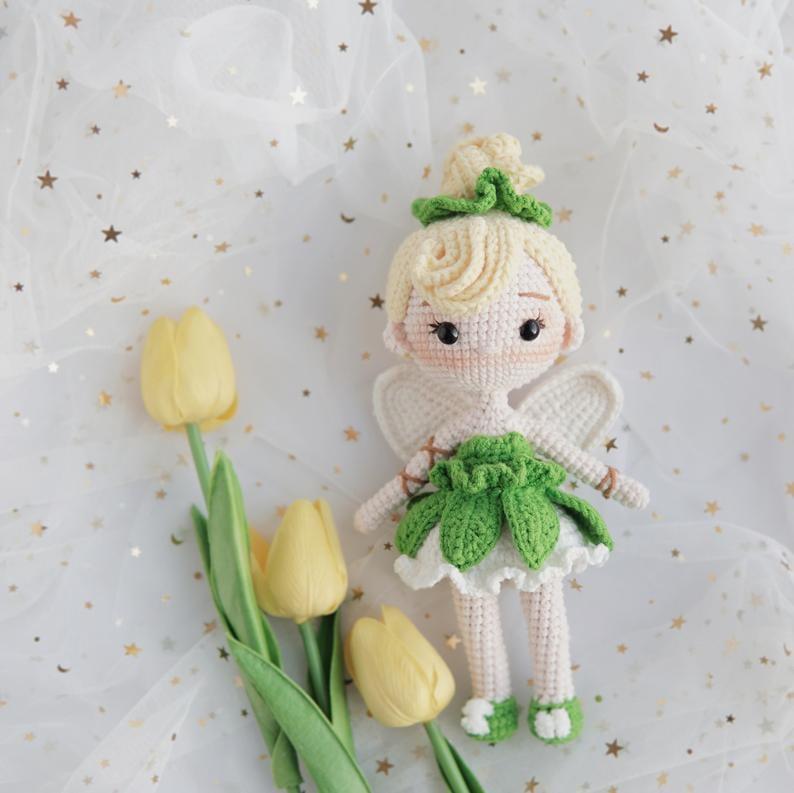 Disney Princess Doll Crochet Pattern — Tinkerbell